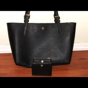 Tory Burch Emerson tote and wallet